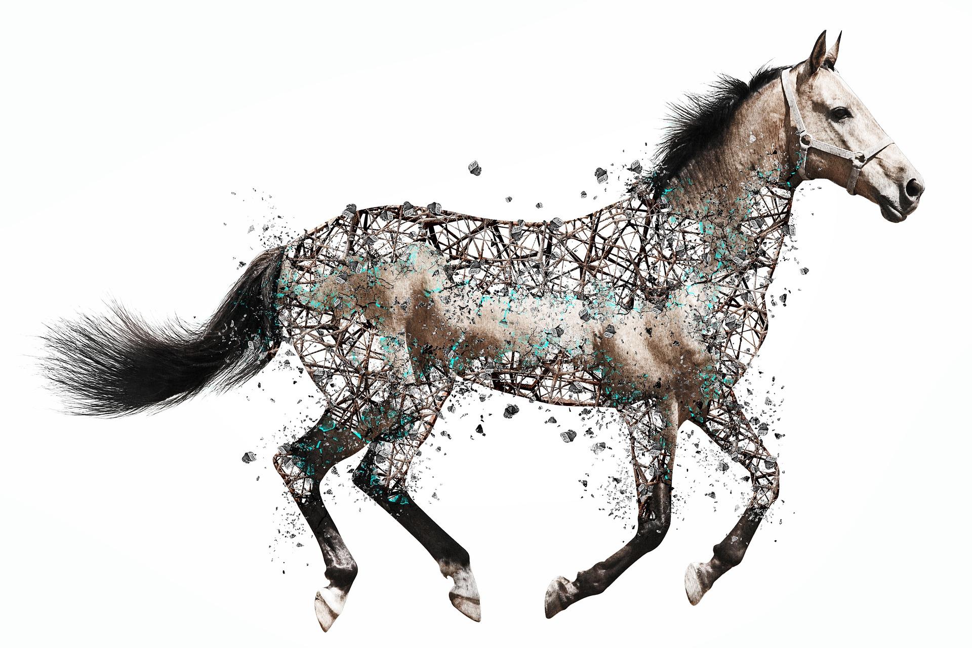 Grafisches Pferd